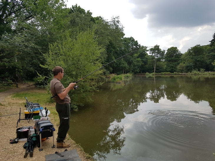 Hooked into a Tench
