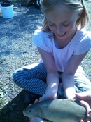Tinks with her 1st tench