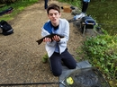 Cracking Tench on the feeder